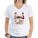 Seminole Sushi Girls Women's V-Neck T-Shirt