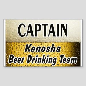 Kenosha Beer Drinking Team Rectangle Sticker