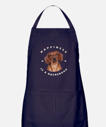 Happiness is a Dachshund! Apron (dark)