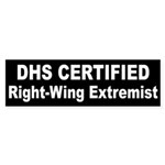 DHS Certified Right-Wing Extremist Sticker