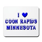 I Love Coon Rapids Winter Mousepad
