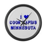 I Love Coon Rapids Winter Large Wall Clock