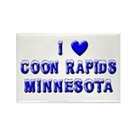 I Love Coon Rapids Winter Rectangle Magnet (10 pac