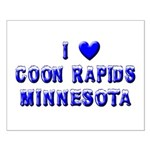 I Love Coon Rapids Winter Small Poster