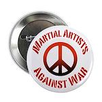 Martial Artists Against War button