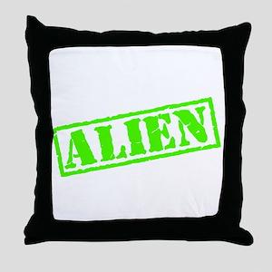 Alien Stamp Throw Pillow