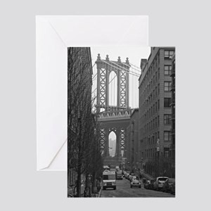 Under the Manhattan Bridge Greeting Card