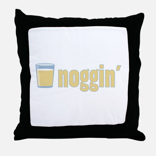 Egg Nog / Noggin' Throw Pillow