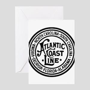 Atlantic Coast Rwy six states Greeting Cards