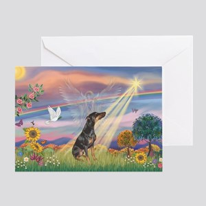 Cloud Angel - Dobie (B) Greeting Card