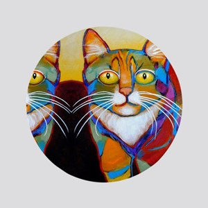 "Cat-of-Many-Colors 3.5"" Button"