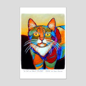 Cat-of-Many-Colors Mini Poster Print