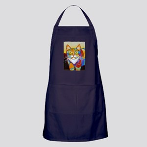 Cat-of-Many-Colors Apron (dark)