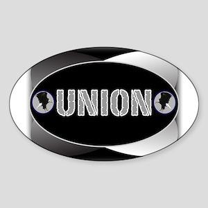 UNION -B Oval Sticker