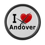 I Love Andover Large Wall Clock