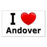 I Love Andover Rectangle Sticker 50 pk)