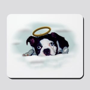 BOSTON TERRIER ANGEL LOOK Mousepad