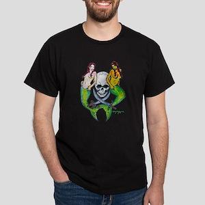 Pirate Mermaid Pin-up Dark T-Shirt