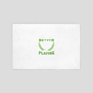 Tennis Ball Player Racket Net Racquet 4' x 6' Rug