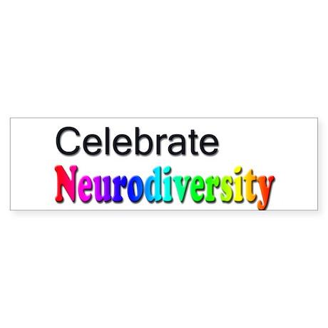 Celebrate Neurodiversity 2 Bumper Sticker