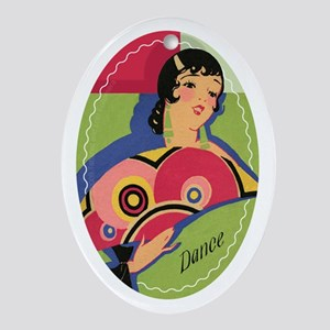 Alluring Gypsy Dancer Oval Ornament