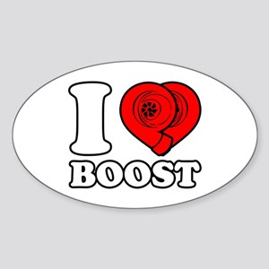 I Heart Boost Sticker (Oval)
