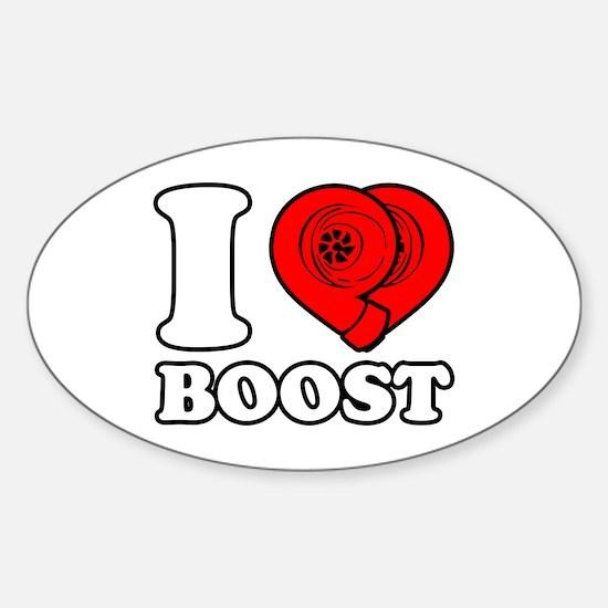 I Heart Boost Sticker (Oval)