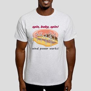Wind Power Works Light T-Shirt