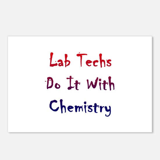 Lab Techs Do It With Chemistry Postcards (Package