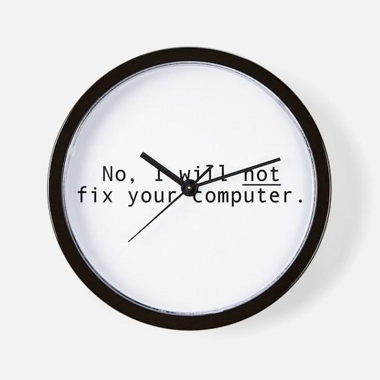 Will not fix Wall Clock