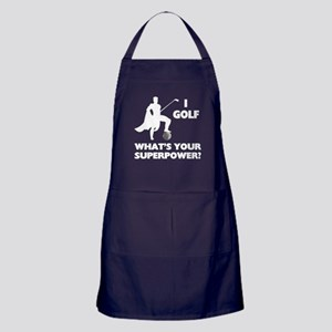 Golf Superhero Apron (dark)