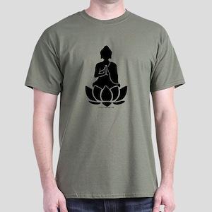 Praying Buddha (Black) Dark T-Shirt