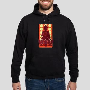 Praying Buddha (Orange) Hoodie (dark)