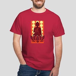 Praying Buddha (Orange) Dark T-Shirt