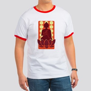 Praying Buddha (Orange) Ringer T