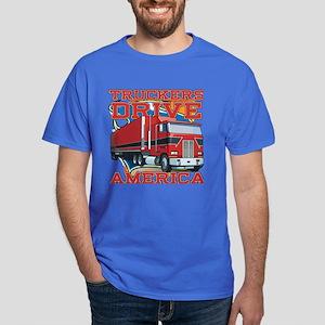 Truckers Drive America Dark T-Shirt