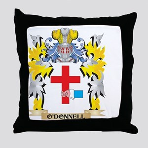 O'Donnell Family Crest - Coat of Throw Pillow