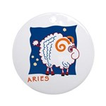 Aries Ornament (Round)