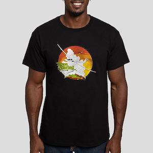 Tucson Soaring Club_LOGO Men's Fitted T-Shirt (dar