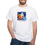 Aquarius White T-Shirt