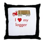 Love My Logger: Truck Design Throw Pillow