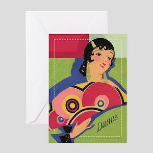 Alluring Gypsy Dancer Greeting Card