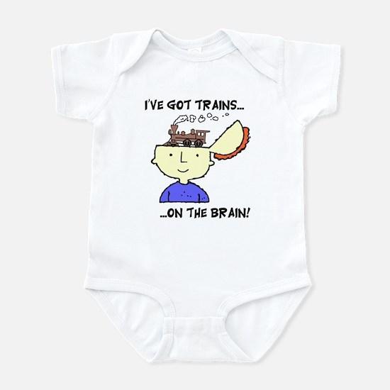 Trains On The Brain Infant Bodysuit
