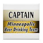 Minneapolis Beer Drinking Team Tile Coaster