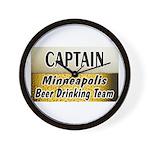 Minneapolis Beer Drinking Team Wall Clock