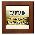 Minneapolis Beer Drinking Team Framed Tile