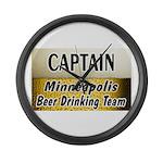 Minneapolis Beer Drinking Team Large Wall Clock