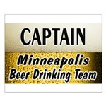 Minneapolis Beer Drinking Team Small Poster