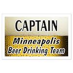 Minneapolis Beer Drinking Team Large Poster