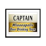 Minneapolis Beer Drinking Team Framed Panel Print